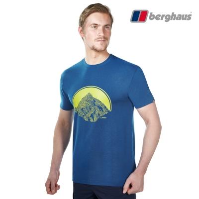 【Berghaus貝豪斯】男款銀離子除臭抗菌吸濕快乾抗UV上衣S04M89藍