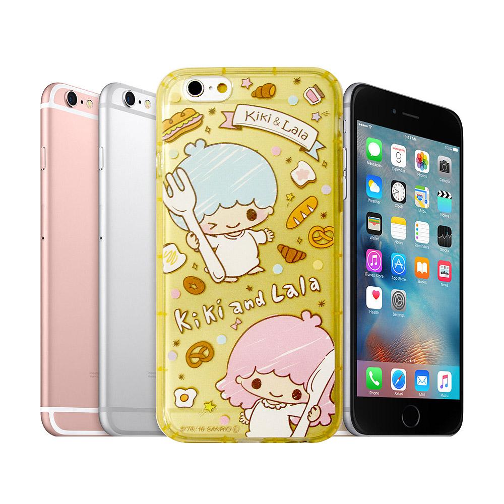 三麗鷗KiKiLaLa雙子星iPhone 6s plus 5.5吋防震空壓殼雙子甜點
