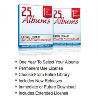 Smartsound Music Pack (版權音樂) 25 Albums (下載版)