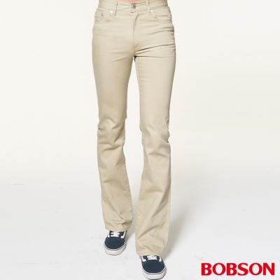 BOBSON 男款低腰淺卡其喇叭褲