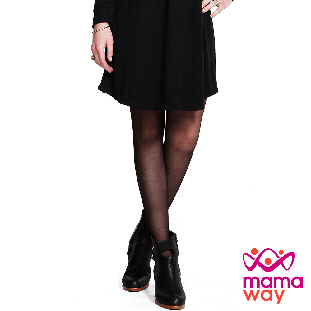 Mamaway 孕期超彈力不勾紗褲襪(共二色)