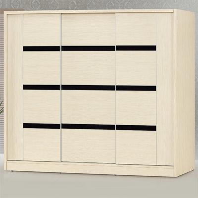 時尚屋 白雪松7.5x7尺衣櫃 寬224x深60x高197cm