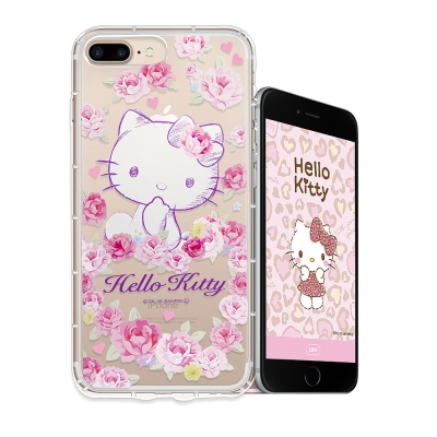 Hello Kitty貓 iPhone 8 Plus/ 7 Plus空壓手機殼(...
