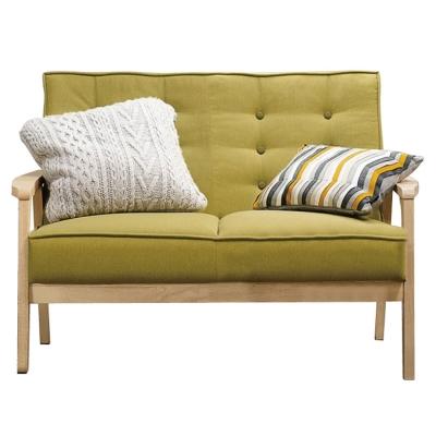 沙發雙人座波里斯實木布面沙發品家居