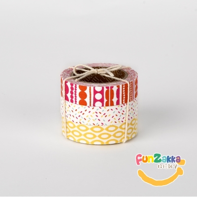 【Funzakka】布柄緞帶貼(三入) 51-ice cream