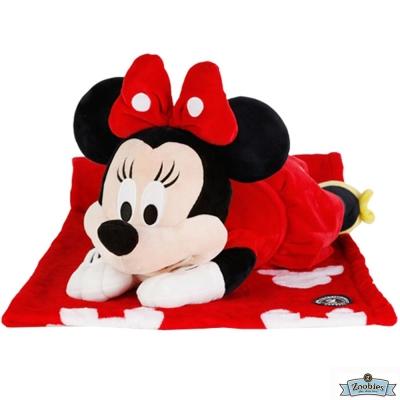 Zoobies 迪士尼Disney 米妮款 玩偶抱毯/嬰兒毯/毛毯 彌月禮盒