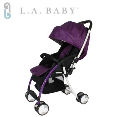 【美國 L.A. Baby】超輕量雙向全罩嬰幼兒手推車 (紫色)