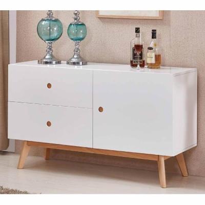AT HOME - 伍迪 4 尺白色餐櫃 120x40x70cm