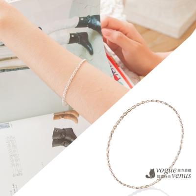 維克維娜 簡約時尚 編織造型純銀手環