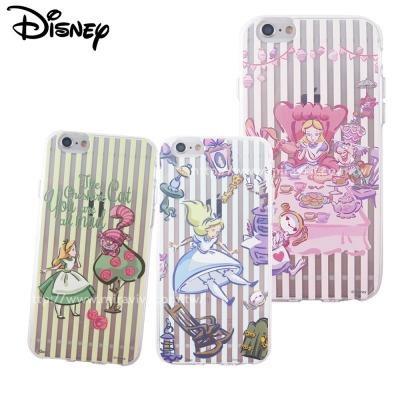 Disney迪士尼iPhone 6/6S Plus(5.5吋)愛麗絲彩繪保護軟套