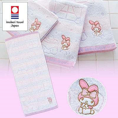 Sanrio 美樂蒂日本製今治純棉毛巾(房間)