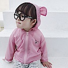 Baby unicorn 粉紅字母耳朵連帽防曬薄外套