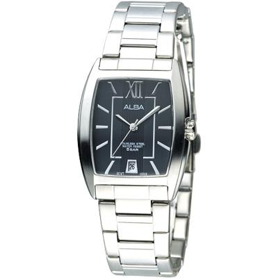 ALBA 唯美國度時尚腕錶-黑(AG8467X1)/26mm 保固二年