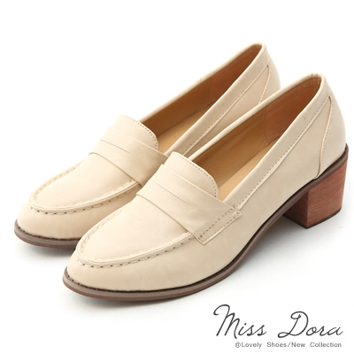 Miss-Dora-搭配滿分-百搭粗跟樂福鞋-杏