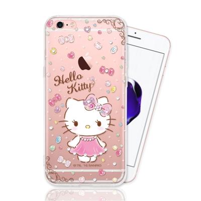iPhone 6/6s 三麗鷗正版授權 HELLO KITTY彩繪空壓手機鑽殼-...