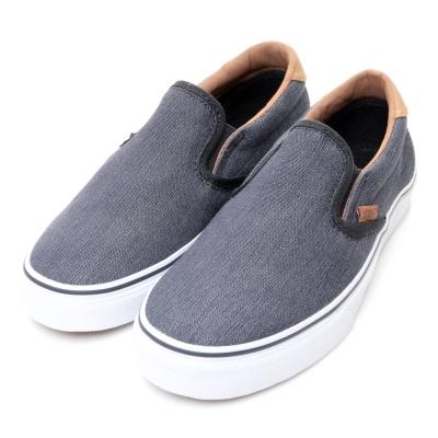VANS-Slip On男休閒鞋-藍