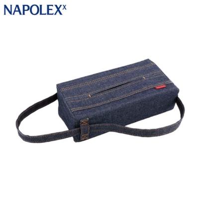 日本NAPOLEX牛仔布面紙盒套LF-147