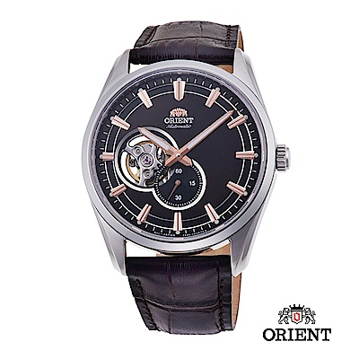 ORIENT 東方錶 SEMI-SKELETON系列 機械錶 皮帶款 咖啡色 40.8mm