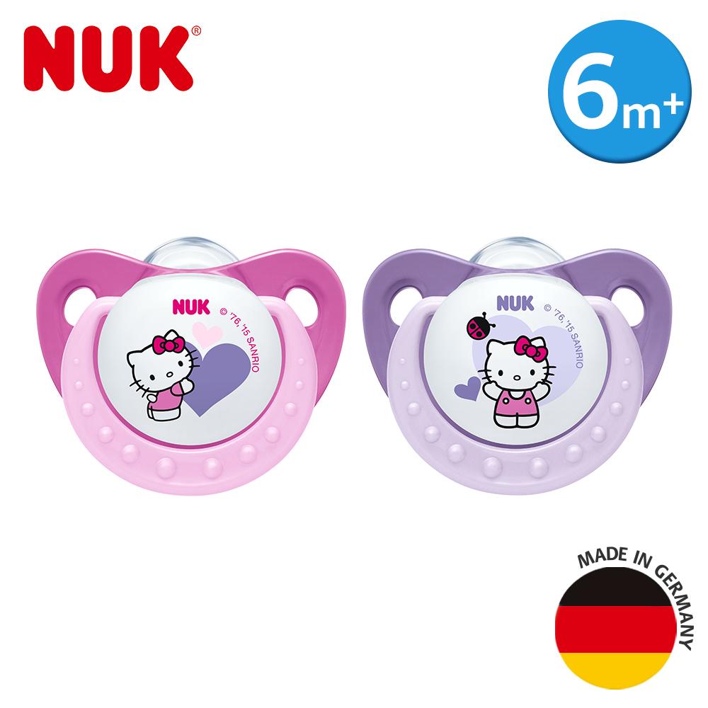 NUK-Hello Kitty安睡型矽膠安撫奶嘴-一般型6m+2入