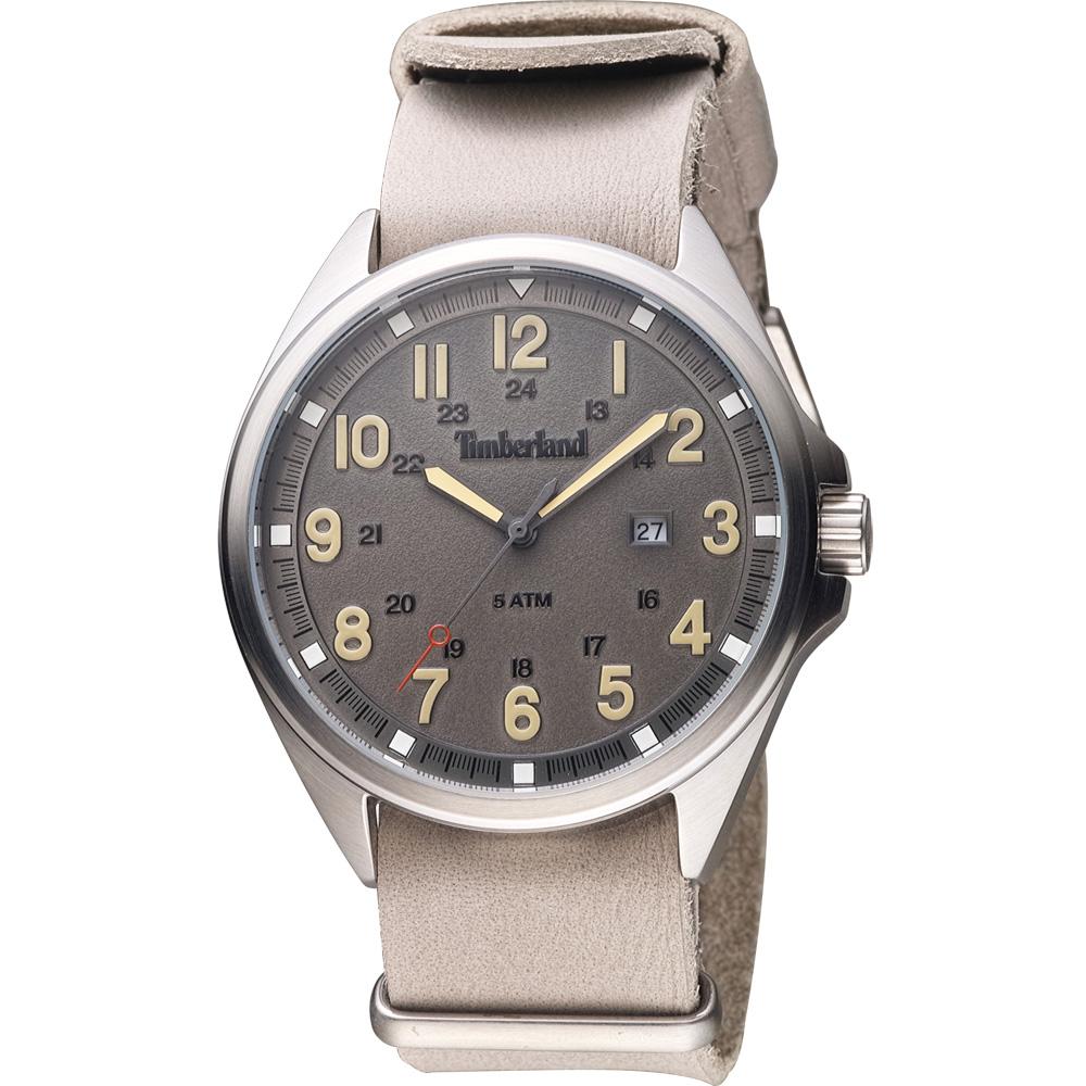 Timberland 紐約時尚復古套組腕錶-灰/44mm