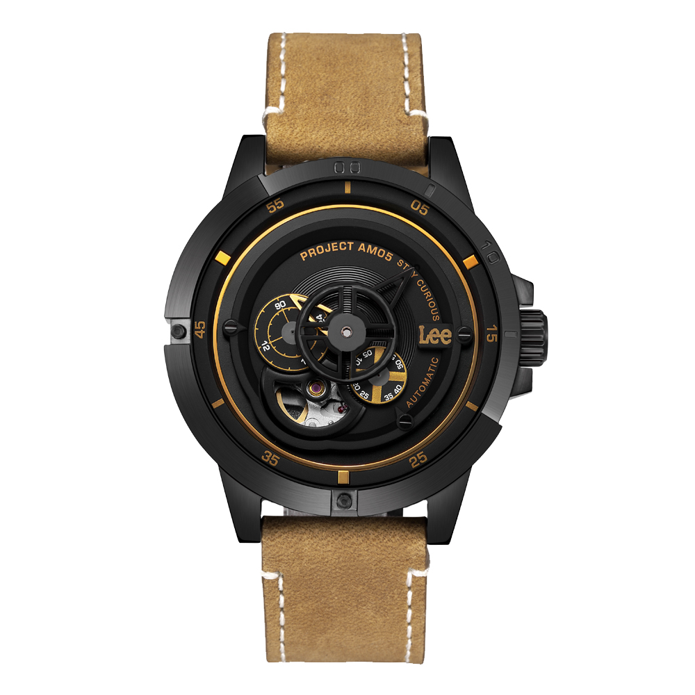 Lee  十字狙殺時尚機械腕錶-LES-M55DBL5-1G/44mm @ Y!購物