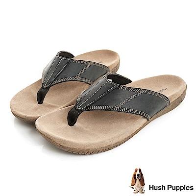 Hush Puppies MUTT 舒適夾腳拖鞋-黑色