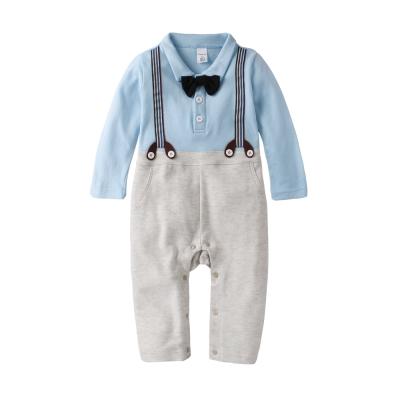 baby童衣-連身衣-紳士領結假吊帶爬服-61093