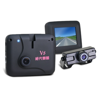 火狐狸 絕代雙嬌V8 前後雙鏡頭 觸碰面板行車記錄器