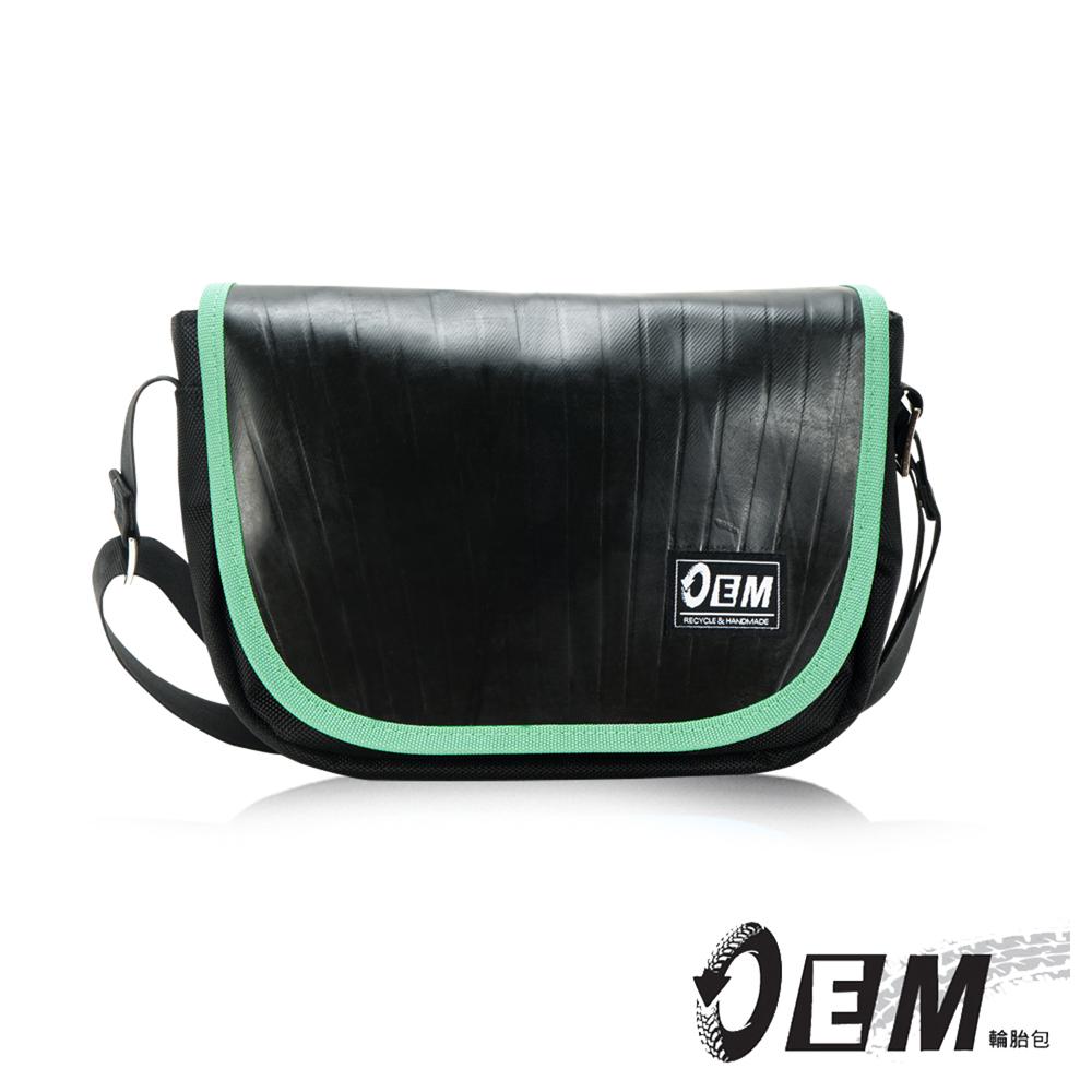 OEM - 製包工藝革命 低調簡約個性半月型減碳休閒包- 綠色