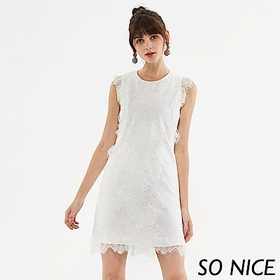 SO NICE優雅浪漫蕾絲洋裝-動態show