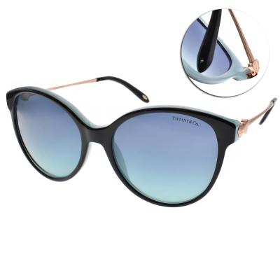 Tiffany&CO.太陽眼鏡 典藏心型貓眼款/黑-金#TF4127 80559S