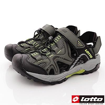 Lotto樂得-排水護趾涼鞋-SI105軍綠(男段)