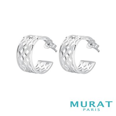 MURAT Paris米哈巴黎 多層次扇型耳環