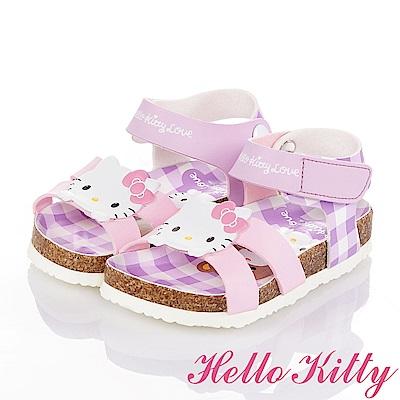 HelloKitty 好朋友系列 舒適減壓吸震防滑休閒涼鞋童鞋-紫