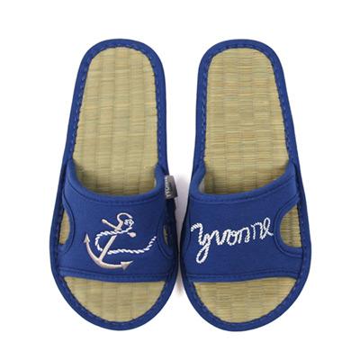 Yvonne Collection海錨貼繡拖鞋-深藍M