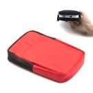 DataStone 3C多功能防震/防水軟布收納包(適2.5吋硬碟/行動電源/3C)-紅色