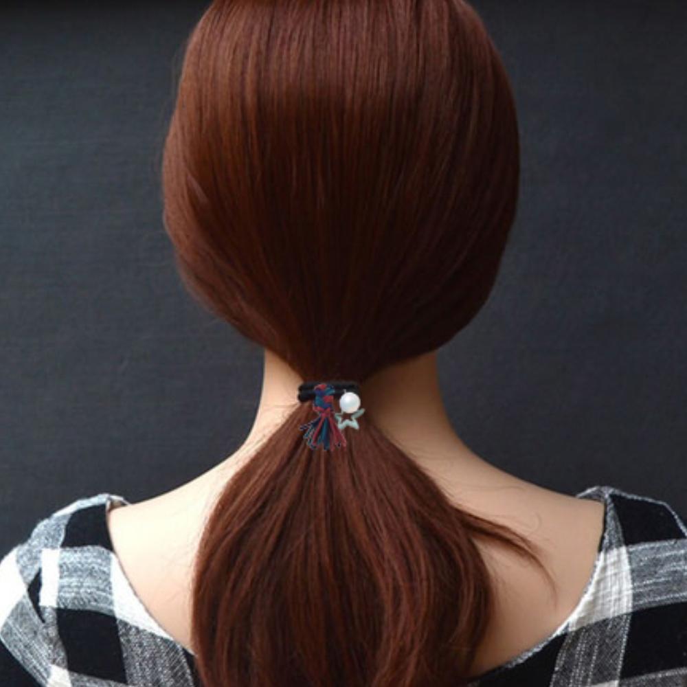 【Hera】赫拉 撞色編織麻花五角星珍珠發圈皮筋髮繩