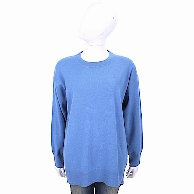 ALLUDE 喀什米爾蔚藍色圓領針織羊毛衫