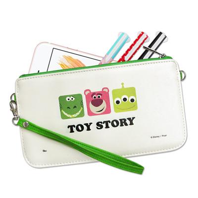 迪士尼授權正版 皮克斯方塊系列 皮革紋手拿包 萬用手機袋(玩具總動員)