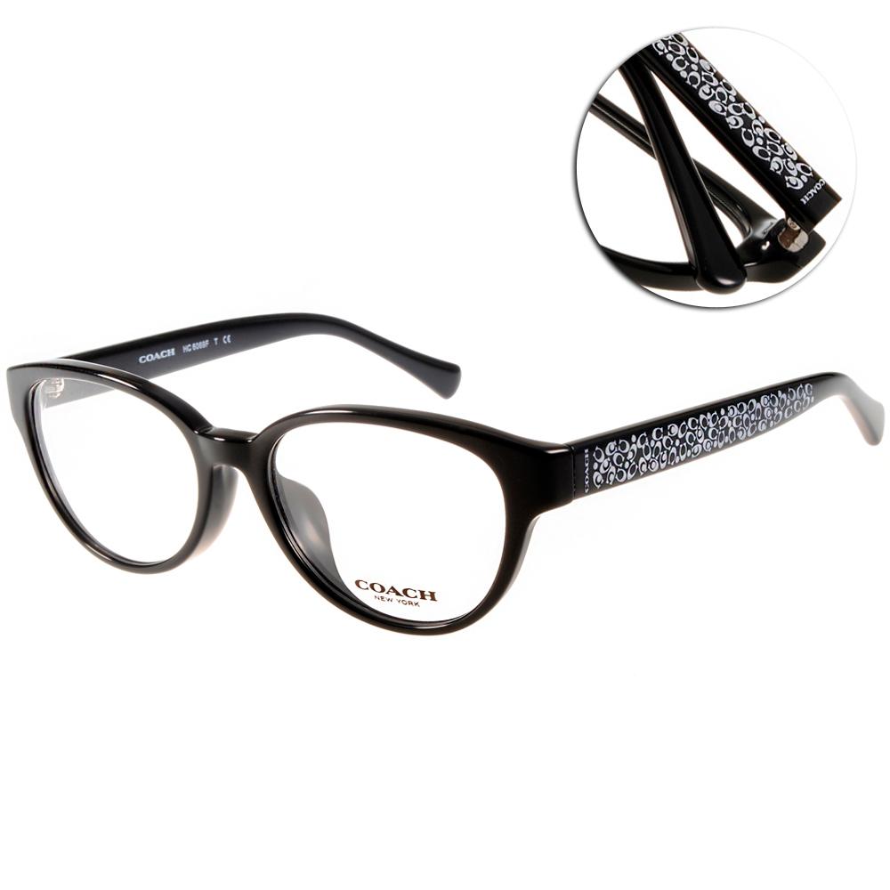 COACH眼鏡 滿版LOGO款/黑#CO6069F 5002