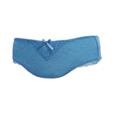 曼黛瑪璉-舒胸bra-中腰三角棉褲-土耳其藍