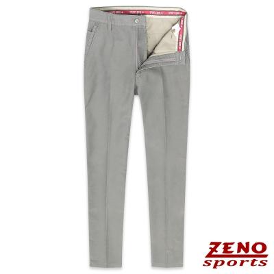 ZENO slim fit微彈力修身休閒長褲‧灰色30-42