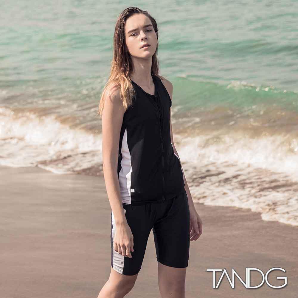 束胸泳衣 全開拉鍊全身束胸泳衣泳褲組 T&G