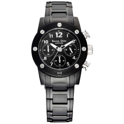 Roven Dino童心未泯三眼計時腕錶-黑37mm
