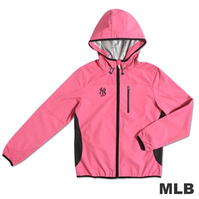 MLB-紐約洋基隊抗UV薄風衣外套-粉紅(女)