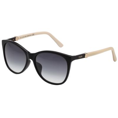 TOD'S 時尚小貓眼 太陽眼鏡 (黑色)TO 175 F