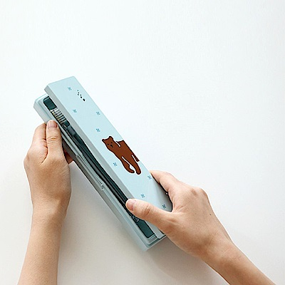 Dailylike 攜帶式紫外線UV牙刷殺菌盒-01 棕熊