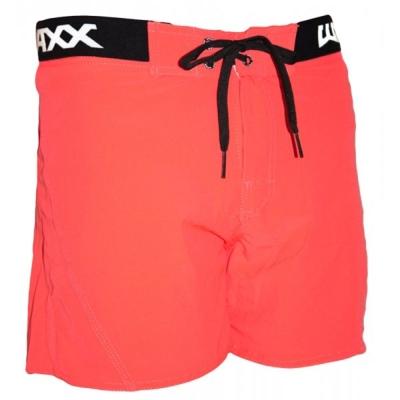 WAXX 螢光紅基本款 高質感吸濕排汗男性海灘短褲
