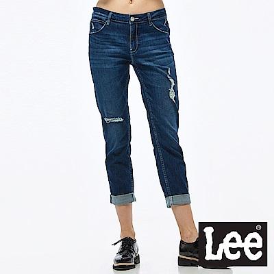 Lee 牛仔褲 401中腰合身小直筒牛仔褲-女款