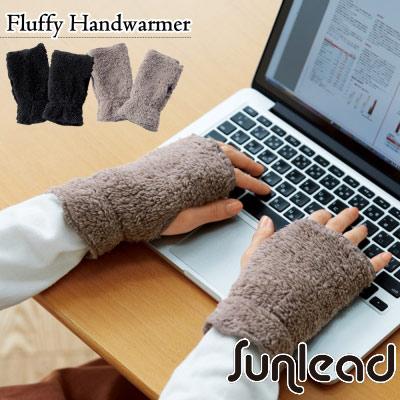 Sunlead 日系保暖防寒蓬鬆感刷毛露指手套